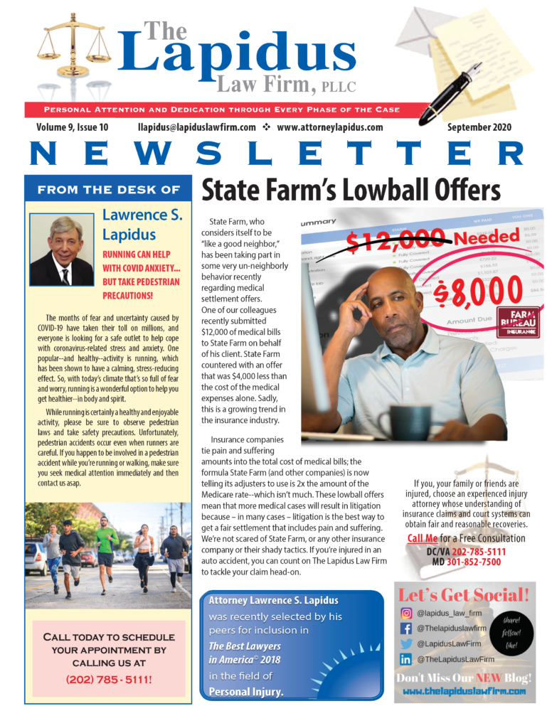DC Personal Injury Lawyer Newsletter