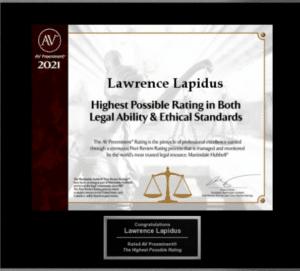 DC & Maryland Personal Injury Lawyer Award