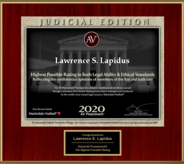 Best DC Personal Injury Lawyer Award